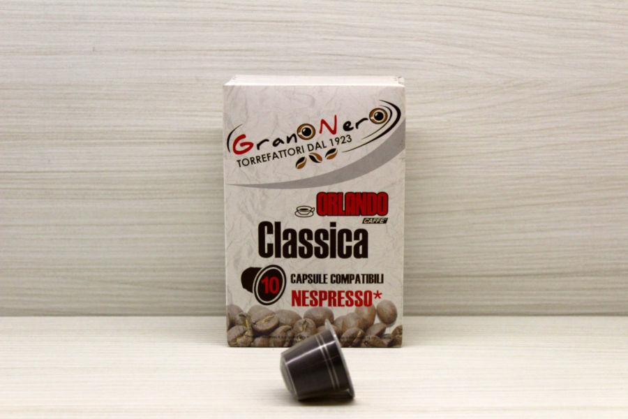 Caffè in capsula compatibile Nespresso autoprotetta Miscela Classica - Caffè Orlando